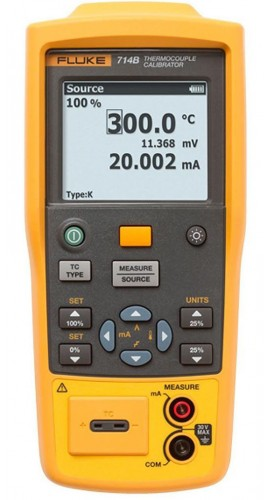 Fluke 714B Temperature Calibrator, Dual Inputs-