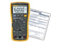 Fluke 117-NIST Multimeter with non contact voltage for electricians, -